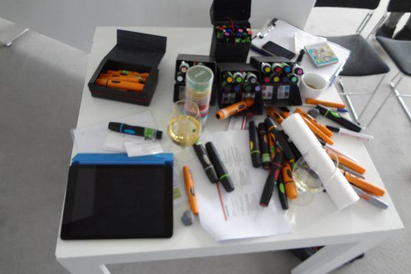 Arbeitsmittel für Graphic Recording und Strategische Visualisierung