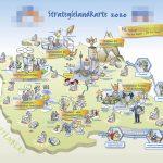 Strategielandkarte als Beispiel für Strategische Kommunikation