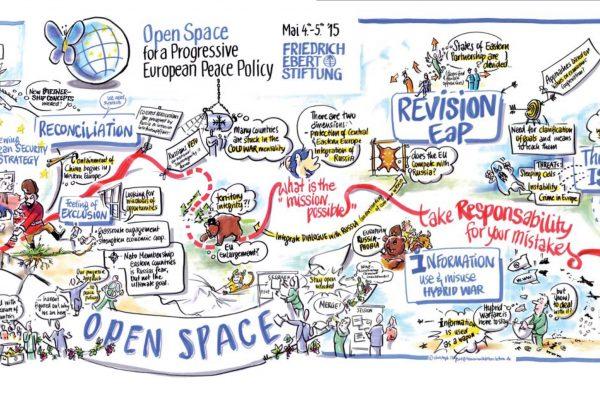 Ein Graphic Recording bündelt die Ergebnisse eines Open Space