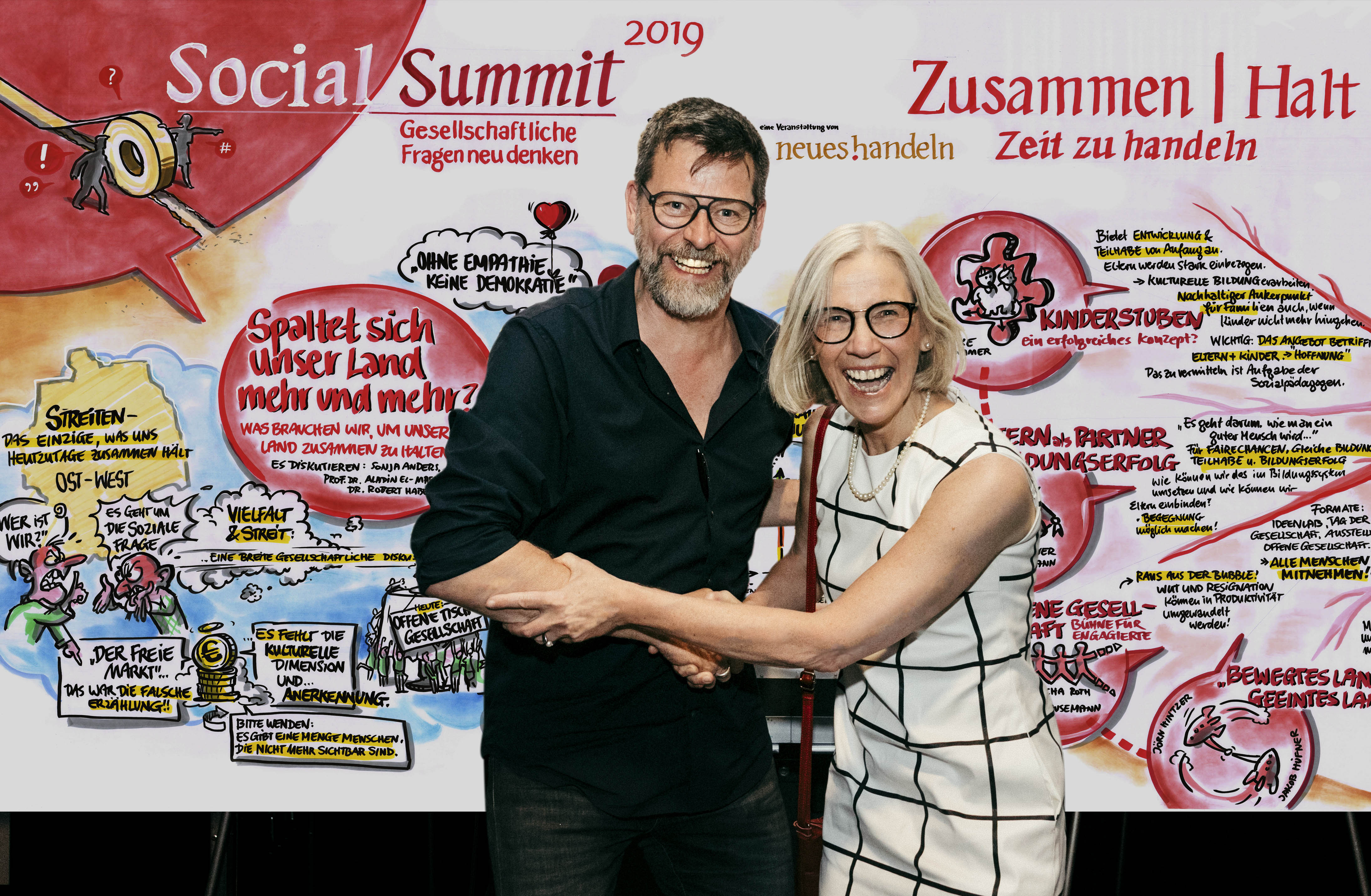 Social Summit 2019 - Christoph Illigens visualisiert den Prozess